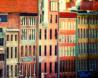 "Nashville Art, Nashville Photography, Nashville Skyline, Downtown Nashville, Country Music, Nashville Architectural, Wall  ""Urban Cowboy"""