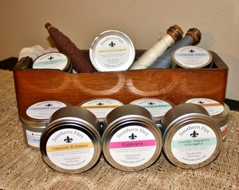 Hand Poured 100% Soy Candles in Tins 6oz & 8oz  - Premium Fragrances
