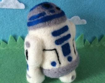 R2d2 needke felted wool Star Wars handmade