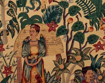 Alexander Henry - Frida's Garden - Home Decor Fabric - Heavy Oxford - #H6752-D - Tan