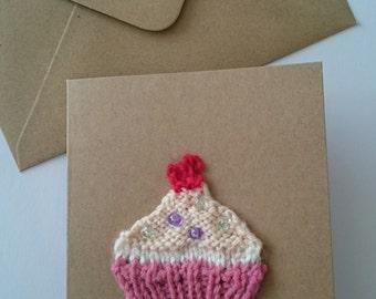 Cupcake birthday card - birthday card - girl birthday card - cake card - girl card