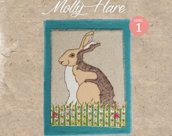 Workshop in a Bag Molly Hare, Freehand Machine Embroidery Textile Art Kit, Level 1