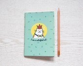 I am a Satisfied Cat Plain A6 Notebook Inserts for Writing Journal, Gift for her,