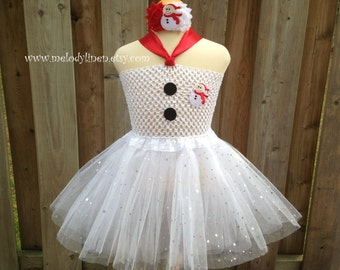snowman headband or tutu dress christmas dress holiday dress christmas tutu holiday tutu holiday headband christmad outfit holiday outfit