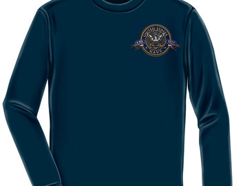 Navy Long Sleeve The Sea Is Ours Navy SKU: MM130LS