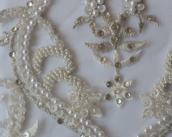 Couture beaded and embroidered trim -Zahida - priced per half yard