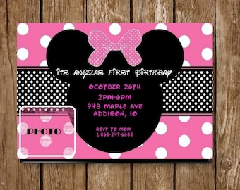 Minnie Mouse Personalized Invitation