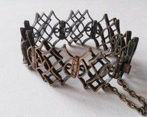 Stunning Vintage Bronze Bracelet by Pentti Sarpaneva, Finland (F283B)