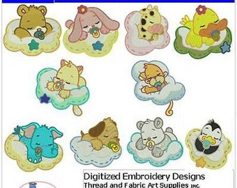 Embroidery Design CD -Dreams and Clouds(1) - 10 Designs - 9 Formats - Threadart
