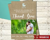 Baby Shower Thank You | Baby Shower | Picture | Thank You | Burlap Baby Shower | Photo Card | Burlap | Digital | Print file | Baby Gift