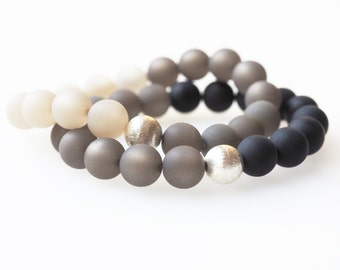 grey black bracelet polaris pearls bracelet with Wisilva pearls