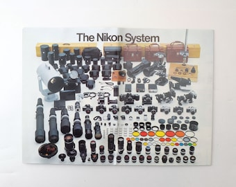 The Nikon System 1970s Pull Out Pamphlet