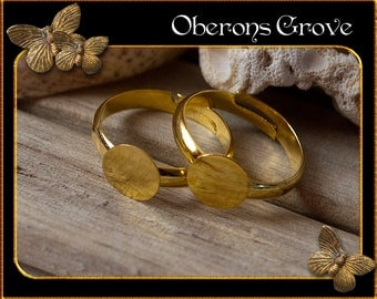 10 ring shanks gold with 8mm tray