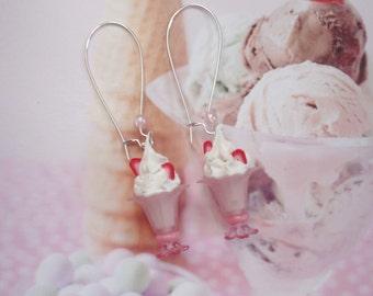 earrings strawberry ice cream