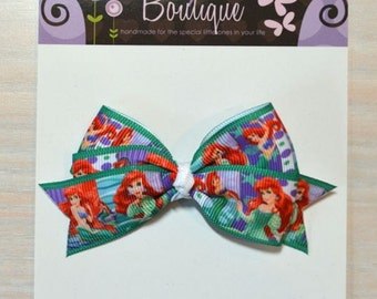 Boutique Style Hair Bow - Disney Princess, Ariel