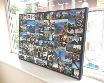 Instagram Collage Canvas Print - Up to 96 Photos 20x30 Inch Premium Hand Made in UK