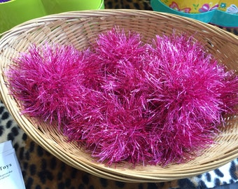 Crinkly Cat Toys, Sparkly Balls, Knit Cat Toy, Valerian, Silver Vine, Bell Cat Toys, Kitten Toys, Toys for Cats, Kitten Play