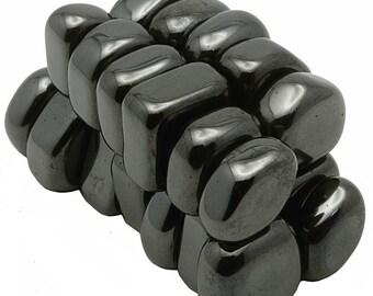 1 Pound - Tumbled Hematite Magnets