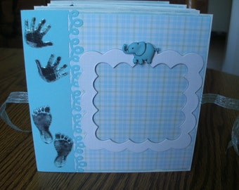 6 x 6 Baby Boy Accordion Photo Book