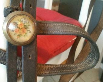 Fabulous Vintage/Antique Western/Military Horse Bridle/Rosettes/Bit