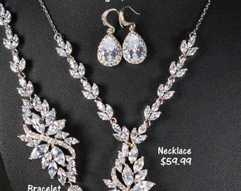 Wedding Jewelry Bridesmaid Gift Bridesmaid Jewelry Bridal Jewelry tear Drop Earrings Cubic Zirconia dangle Earrings bridesmaid gift