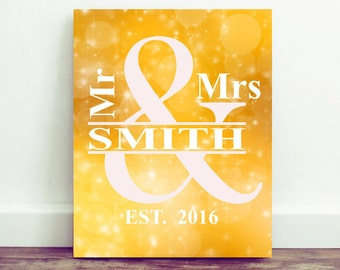 Personalized Wedding Gift, WeddingSign, Wedding Wall Decor, Mr and Mrs, Wedding Gift, Unique Wedding Gift, Printable, Print