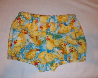 Baby Diaper Cover Bloomers in Bright Colorful Rubber Duck Ducky Design 9 to 18 months