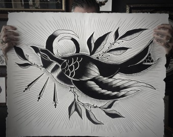 Black Swallow - Original Painting