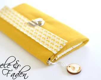 "Wallet / purse XL ""yellow flower"""