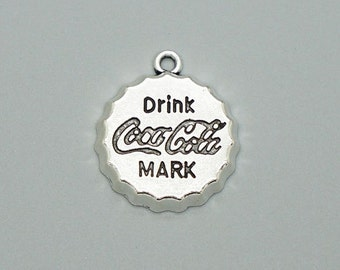 20 pcs Antique silver Coca Cola Bottle Drink Cap Charms 24x21mm