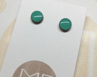 Mini Studs in Sparkly Mint 10mm