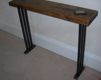Hallway console table lovely art deco style rustic industrial chic