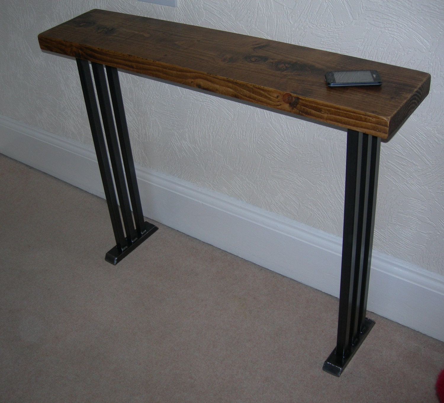 Art Deco Foyer Furniture : Hallway console table lovely art deco style rustic industrial