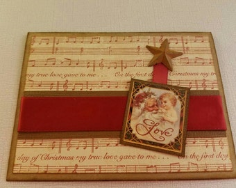 Rustic holiday card