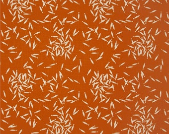 School of Fish in Orange (Organic Poplin Fabric) by Charley Harper from the Maritime collection for Birch Fabrics