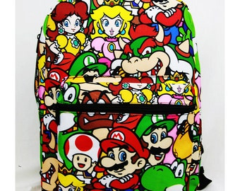 Nintendo Super Mario (#SD27865) Large 16 inch Backpack