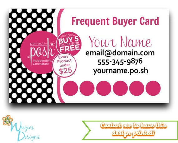 perfectly posh frequent buyer card business card direct