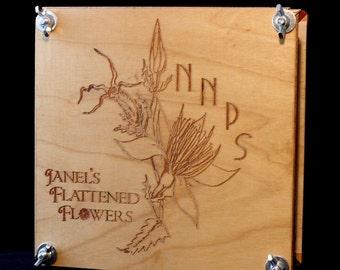 Custom engraved flower press