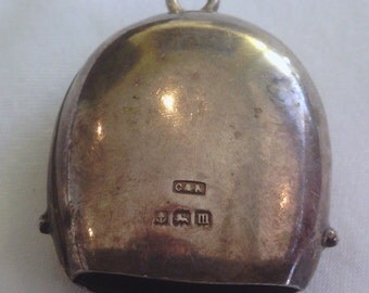 Vintage Silver Baby's Cow Bell Rattle