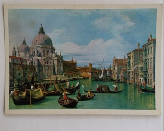 Vintage art postcard Venice the Grand Canal by Old Master artist Canaletto