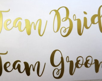 Team Bride/Groom iron on decal,Bridal party iron on transfers for T shirt.