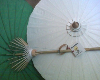 """Waterproof Cotton Canvas Parasols - 28"""" with bamboo pole"""