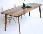 "Dining Table, Walnut Dining Table, Modern Walnut Table, Wood Dining Table, Mid Century Modern,  ""The Santa Monica Mixed"": Solid Black Walnut"