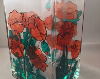 Poppy rectangular vase