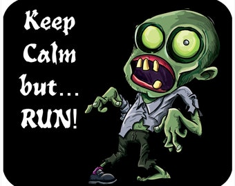 Custom Mousepad, Thick Mouse Pad - Keep Calm Zombie - Free Shipping