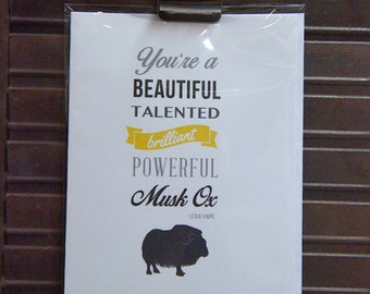Powerful Musk Ox.... BFF card (Parks & Rec quote)