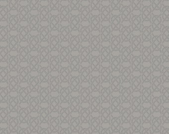 Lewis & Irene Harbour Side Patchwork Quilting Fabric A176.3 - Grey fishermans knot