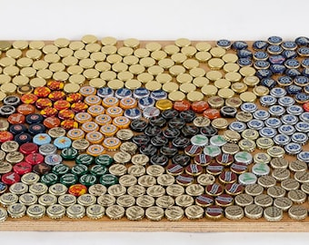 vLot of 700 Beer Bottle Caps Uncrimped Capt. Morgan Blue Moon Assorted 3.5 lbs