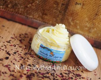 8 oz Organic Natural Body Butter- Cocoa butter Lotion- Organic Lotion- Whipped Shea Butter lotion- Face Body Moisturizer- Best Moisturizer
