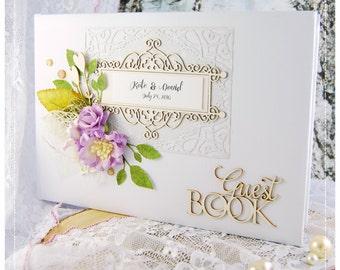 Luxury Personalised Wedding Guest Book